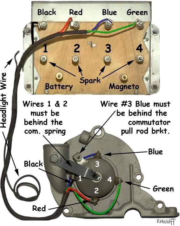 electrical wiring illustrations irish model t ford club commutator wiring graphic
