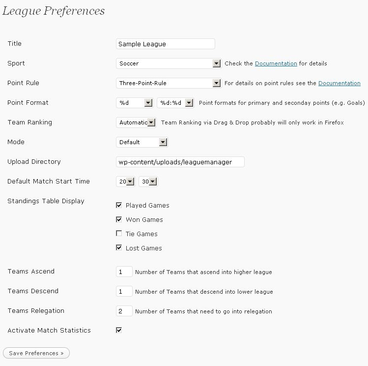 league-preferences